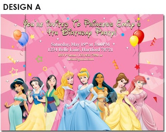 Disney Princess Invitation - Printable Disney Princess Birthday Invitation