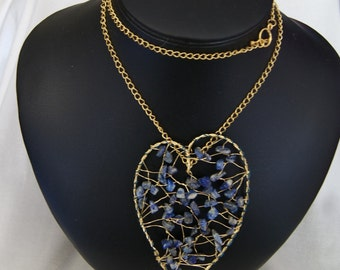 Lapis Lazuli Heart Nucklace