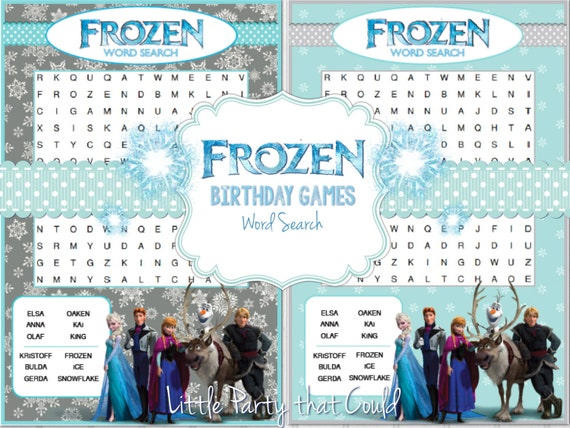 Dynamic image pertaining to frozen word searches