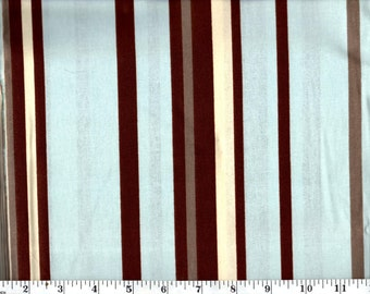 1 yard 34 inches, Blue and Brown Striped Cotton