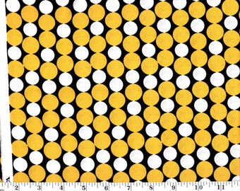 1 yard 10 in, VIP Yellow and White Dots on Black