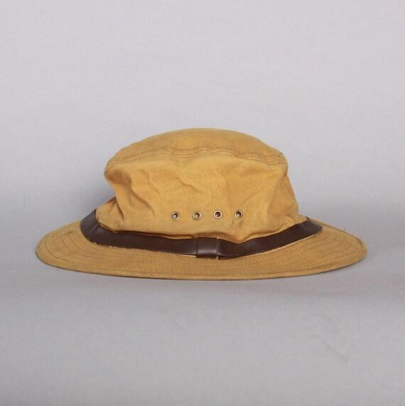 Filson Packer Hat: Vintage 80s FILSON HAT / 1980s Men's Tan Tin Cloth Packer