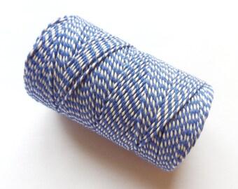 FULL SPOOL Sea Blue & White Baker's Twine - 100m