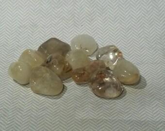 Medium Size Tumbled Gold or Golden Rutilated Quartz