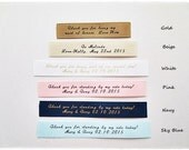 Personalized message satin label custom name fabric label clutch purse wedding
