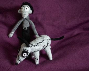 Ornaments crochet Victor and Frankenweenie