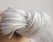 White  Wax Cotton Cord 1 mm 10 meters - 10,9 yards or 32,8 feet