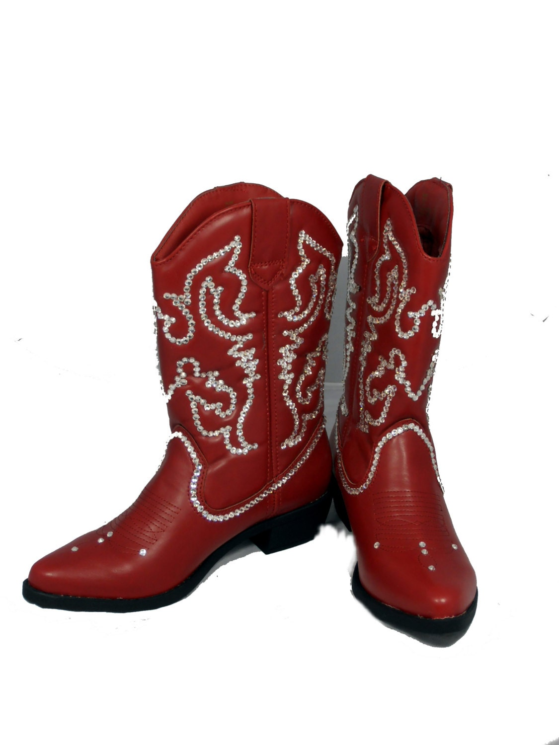 Womens Red Bling Cowboy Boots