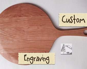 Engraving customized on Pizza Peel Paddle