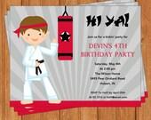 Karate Invitation | Kids Birthday | Printable Editable Digital PDF File | Instant Download | KBI309DIY