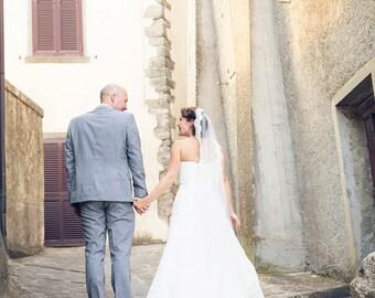 Lace Wedding Veil - MANTILLA - Cathedral Veil - Lace Veil - Alencon Lace - BEST SELLER
