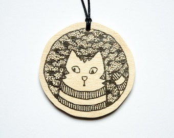 "Pendant ""Striped Cat"""