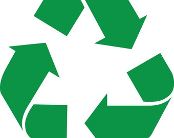 Recycle Decal Trash Can Recycle Decal Recycle Sticker Think Green Recycle Trash Can Decal