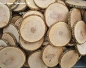 """25 qty 3.5 to 4"""" wood slices, rustic coasters, tree coasters, decoration,  rustic weddings, rustic wedding coasters"""""""