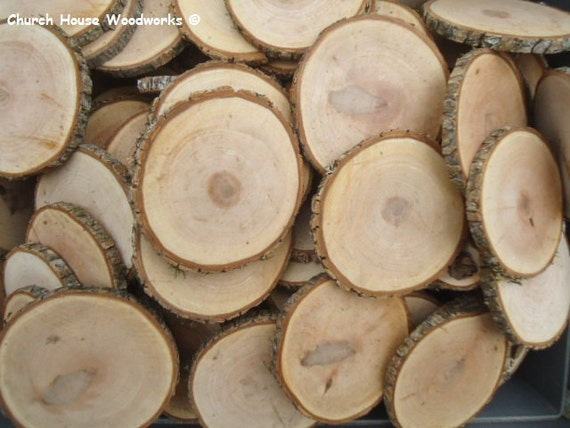 25 qty 3 5 to 4 wood slices rustic coasters tree for Diy rustic coasters