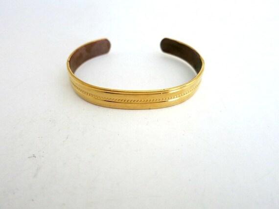 Sabona Gold Plated Copper Cuff Bracelet