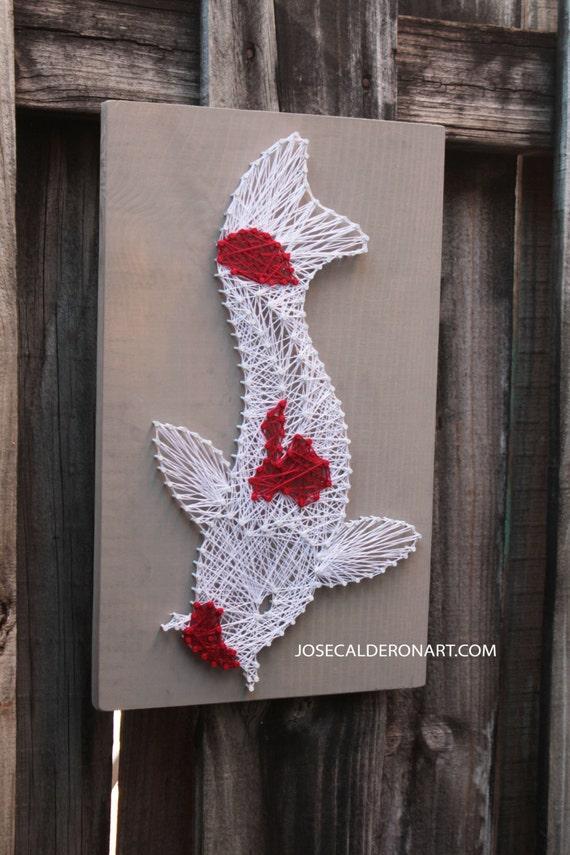 Koi koi string art for Fish string art