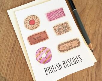 British Biscuits - Postcard