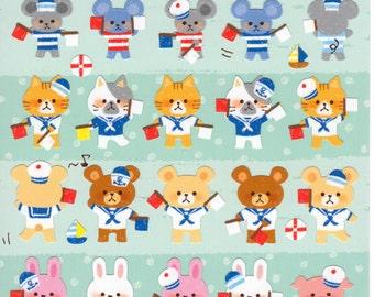 Japan Mind wave kawaii LUCKY MARINER sticker sheet/ 75221