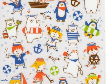 Japan Mind wave kawaii Summer selection MARINE sticker sheet/75942