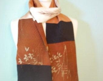 Versatile Japanese silk kimono scarf