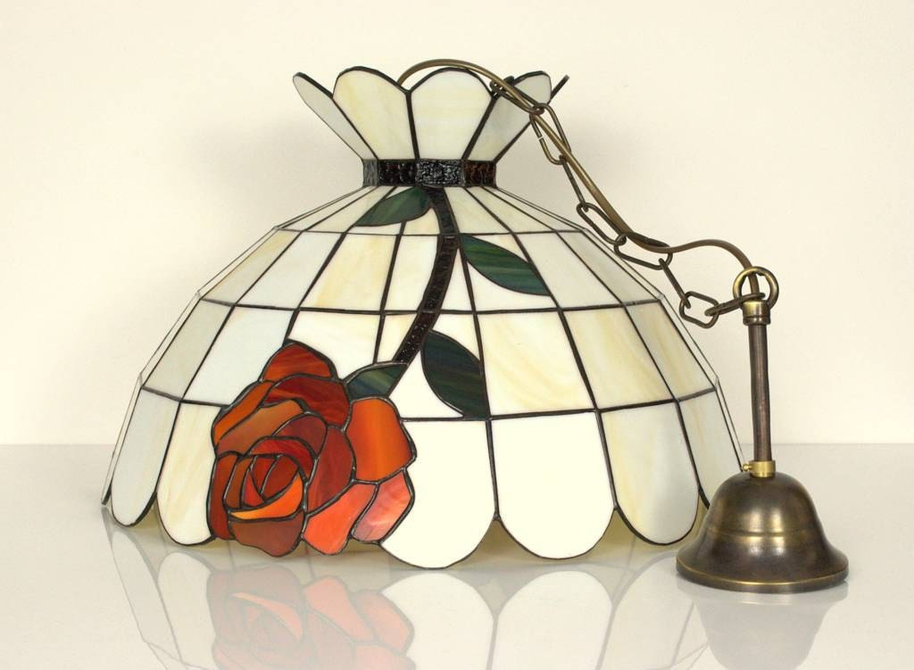how to make a lamp using existing stained glass shade