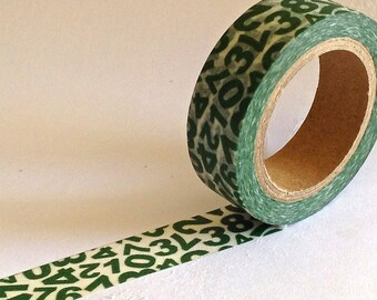 "SALE Washi Tape ""Numbers""  10 Meters"