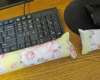 Yellow Rose Wrist Supports, Keyboard Wrist Rest, Mouse Wrist Rest
