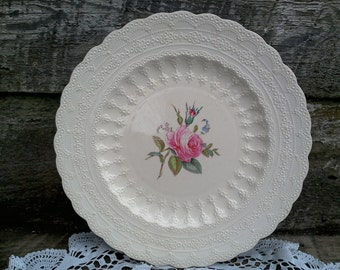 "Vintage Spode's ""Billingsley Rose"" Dinner Plate, Spode Jewel Copeland Spode, Red/Pink Transferware, Serving, Rose, English Plate"