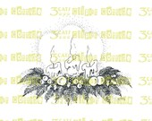 Holiday Arrangement with Candles Digital Stamp Instant Download