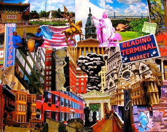 Philly Adventure Photo Collage Prints