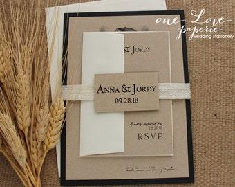 Rustic Barn Wedding Invitation, Custom Colors! starting at: