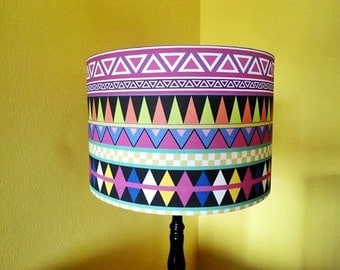Lamp shade made of  designed fabric by Bianca Green