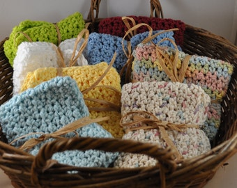 Crochet Cotton Washcloths