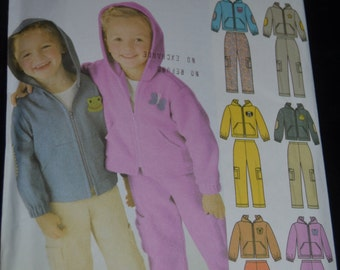 Simplicity 5378 Childs Jacket and Pants with Applique variations Sewing Pattern - Size 2 - 6X - UNCUT