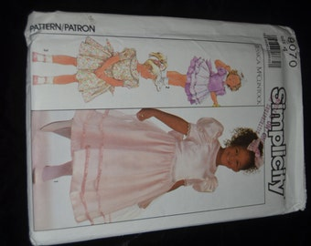 Simplicity 9070 Jessica McClintock  CHilds Dress in Two Lengths Sewing pattern -  UNCUT - Size  4