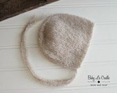 Newborn Bonnet - Soft | Baby Bonnet - Luxury - Newborn Props - Cloud Soft