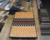 Deviant Chevron Cutting Board or Art, -  you decide