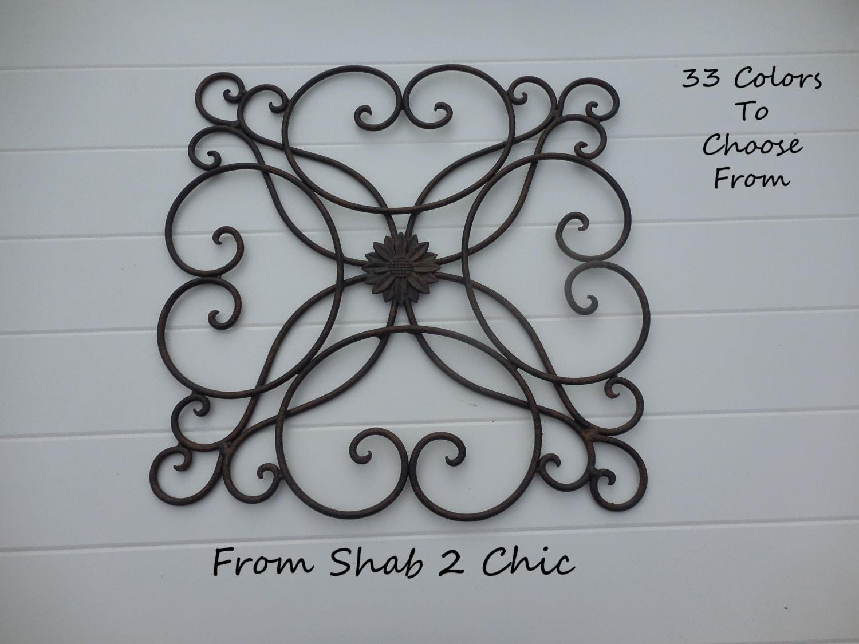 BLACK / Wrought Iron Decor / Shabby Chic / Wall Decor
