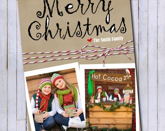 Photo Christmas Card | Merry Christmas Card | Digital Christmas Card {P15}