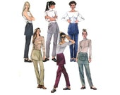 Pants With Attached Skirt Pattern McCalls 2487 Size 10-12-14 Waist 25-28 Semi Fitted Pants Attached Overskirt Back Zip Cargo Pocket Uncut