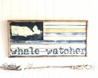 Meet Me Bye The Sea Nautical Whale Watcher Flag