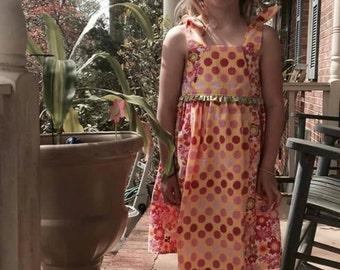 Handmade little girl dress size 6