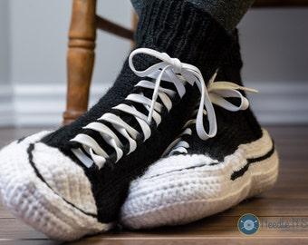 Converse slippers, crochet converse, men women adult, handmade slipper, custom converse