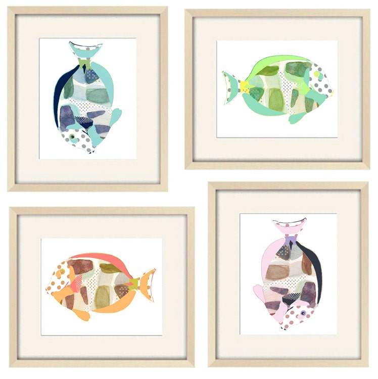 Bathroom Art Kids Bathroom Decor Beach Art Kids By OzscapeDesigns