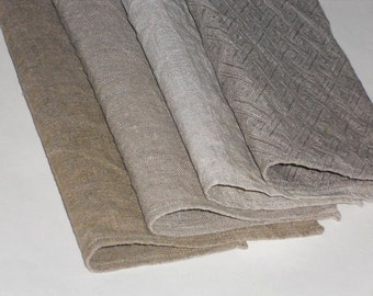 Linen napkins set of 4 washed dinner napkins organic burlap in natural colors for rustic vintage style table