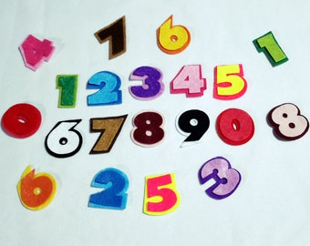 "Felt Capital Shadows Numbers - Great for Learning-1.1/2""- Felt Die Cut Numbers"