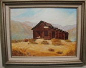 Southwestern Art  on Canvas Homesteaders House