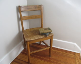 """Vintage Wood School Chairs, Adult Size 18"""""""