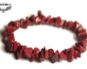 Red Jasper Bracelet - Root Chakra Bracelet - Red Stone Bracelet - Grounding Energy